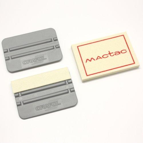 Rakel-Set BASIC mit 3 Rakeln von ORAFOL, MACtac + Wandkings Rakelhalter