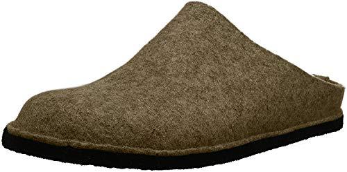 Haflinger Flair Smily, Pantoffeln, Unisex-Erwachsene, Filz aus reiner Wolle, Beige (550 Torf), 44 EU