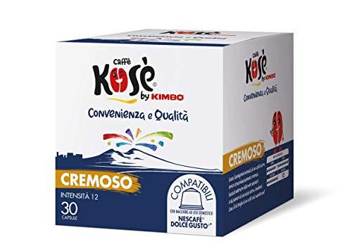 Kosè by Kimbo Capsule Cremoso Compatibili Nescafé Dolce Gusto, 2 Astucci da 30 Capsule