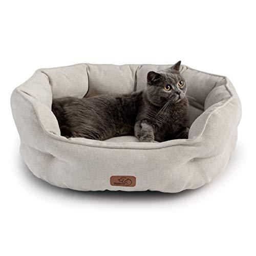 Bedsure 猫 ベッド ベージュ ペットベッド 犬 ペットソファー 洗濯 丸洗い ペットクッション 猫用 犬用 マ...