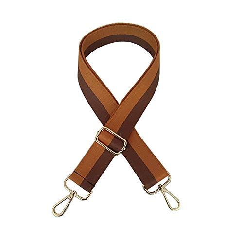 Umily cinghia da spalla tracolla crossbody ricambio Tracolla di ricambio per borsa 3.8cm ampia borsa tracolla 80-140cm Metallo color oro