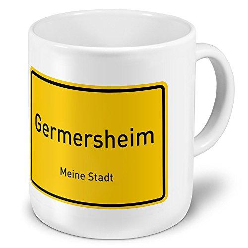XXL Jumbo-Städtetasse Germersheim - XXL Jumbotasse mit Design Ortsschild - Städte-Tasse, Städte-Krug, Becher, Mug