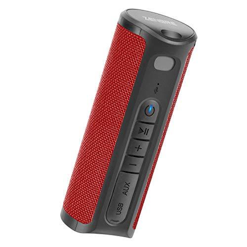 Altoparlante Bluetooth, ZENBRE Z4 Altoparlante Portatile con 20 ore di Riproduzione, 2x5W Bassi Potenziati con 2 Dual-Driver, Senza Fili Stereo Impermeabili IPX4 Bluetooth Speaker(Rosso)