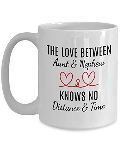 Tía taza blanca de café de 325 ml – The Love Between Tía y sobrino Knows No Distance and Time