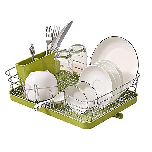 LGQ Rejilla de Drenaje para Platos de Cocina, Rejilla de Almacenamiento de Utensilios de Cocina, Rejilla de Drenaje para Palillos de Drenaje, Blanco, Verde, Gris, Negro,Verde