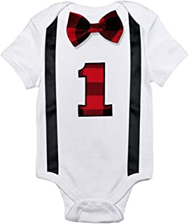 Baby Boy 1st Birthday Rompers Toddler Boys Clothes Kids Jumpsuit Infant Clothing Playsuits One Year Boy Casual Overalls (C...