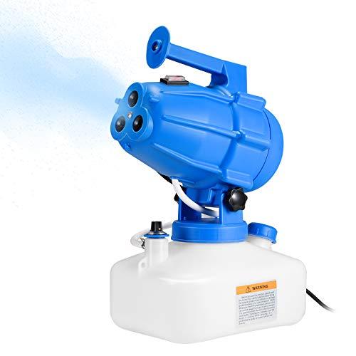 Kacsoo Máquina eléctrica ULV pulverizadora portátil de 5 L, máquina de niebla fría de jardín, máquina de desinfección de esterilización industrial pulverizadores nebulizador para interior