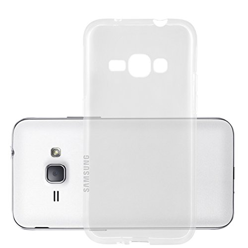 Cadorabo Hülle für Samsung Galaxy J1 2016 in VOLL TRANSPARENT - Handyhülle aus flexiblem TPU Silikon - Silikonhülle Schutzhülle Ultra Slim Soft Back Cover Hülle Bumper