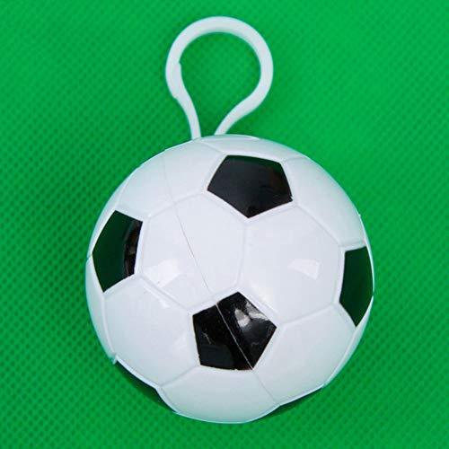 GNNHY Wegwerp Regenjas, (4 Pack) Gekleurde Plastic Draagbare Bal Regenjas, Transparant Regenjas, Voetbal Mini - [Afmetingen] 120 * 90Cm