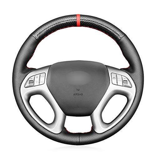 MEWANT Funda de volante cosida para Hyundai Tucson 2010-2015