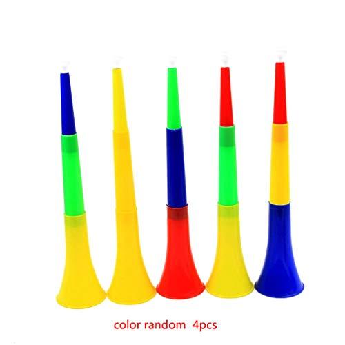 Floridivy 4 stuks kleur willekeurige Plastic telescopische 3-delige Trompet Hoorn Toy Puzzel kinderen muziekinstrument