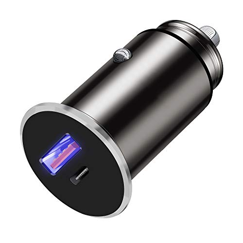 Vibe USB C Car Charger 12V/24V 5V/5A/30W Power Delivery 3.0A Qualcomm Certified USB & Type-C ports, Car Cigarette Lighter, Fast Charging for iPhone 12 11 X Pro Max Samsung Galaxy iOS Android Devices