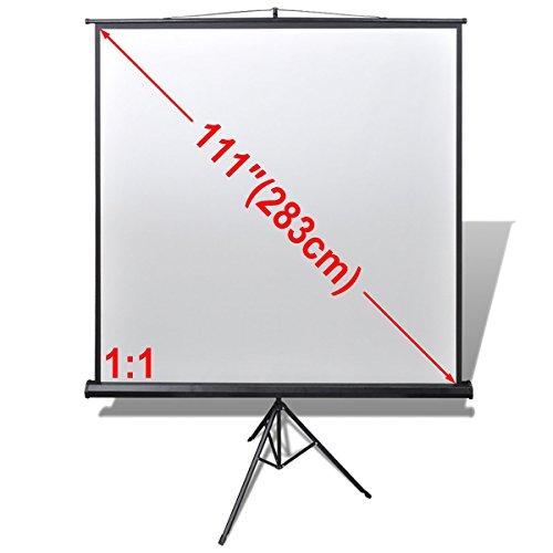 vidaXL Projektionswand Beamerleinwand Beamer Leinwand Stativ 200 x 200 cm 1:1