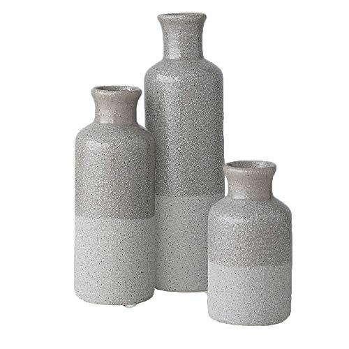 Sullivans Small Ceramic Vase Set Rustic Home Decor Set Of 3 Vases Two Toned Gray Cm2859 Buy Online In Pakistan At Desertcart