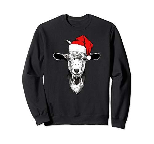 Christmas Goat funny Goat with Santa hat Sweatshirt