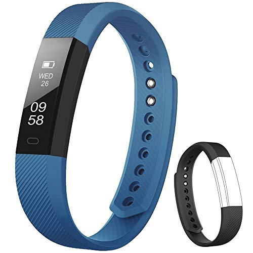 Rayfit Pulsera Actividad Inteligente Reloj Deportivo Fitness Tracker Monitor de Sueño Contador de Calorías Reloj Cuenta Pasos Ejercicio Salud Podómetro Pulsera Inteligente para Mujer Hombre Niños