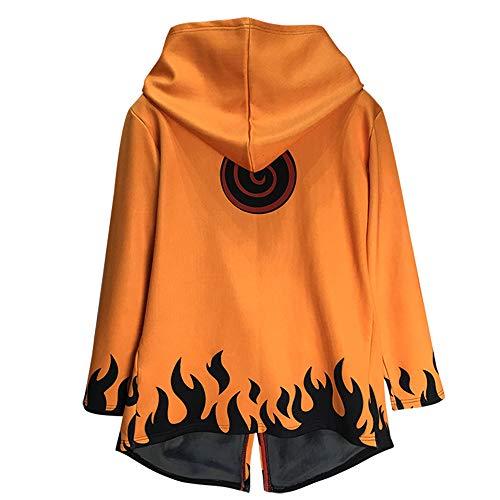 Cosplay Kostüm Halloween Maskerade Anime Naruto Täglicher Reißverschluss Sweatshirt Pullover Hoodie Mantel Jacke Hohe Qualität