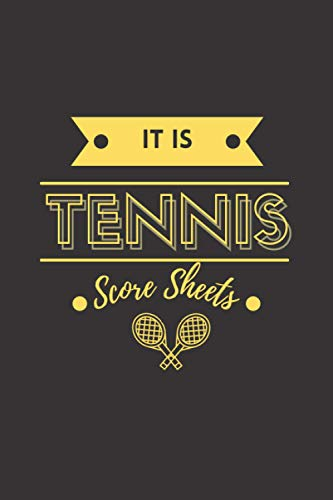 It is Tennis score sheets: Tennis Game Record Keeper Book, Tennis log book, tennis score pads ,Tennis Book, Tennis Score Notebook, 100 Pages ( 6x9 in) ... tennis lovers ... scoreboards to complete
