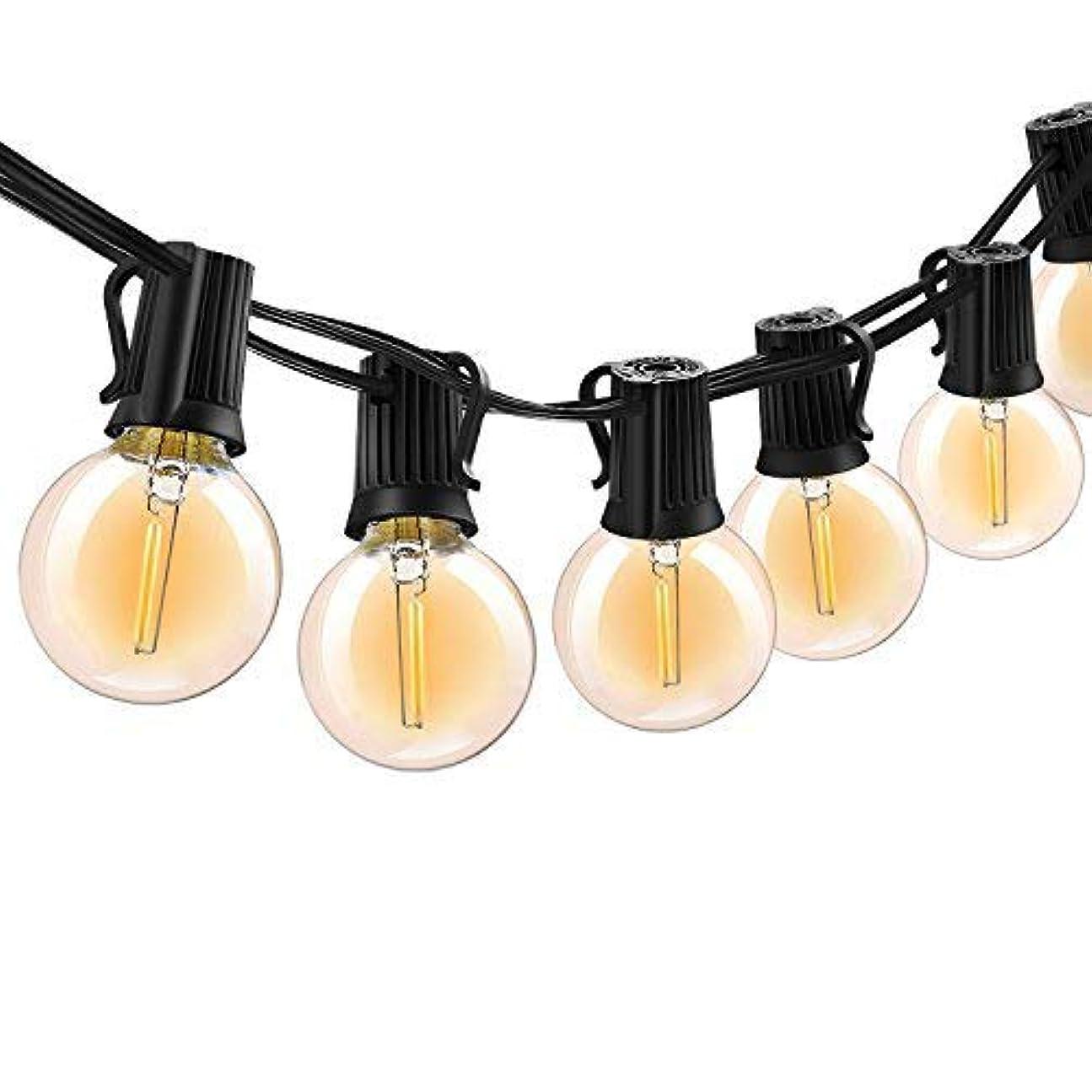 鰐教える失望ボンコシ ?LEDストリングライト 防雨型 E17ソケット10個 LED電球*12個 5.5M 連結可能 イルミネーションライト 2700k 電球色相当 クリスマス 結婚式 パーティー電飾