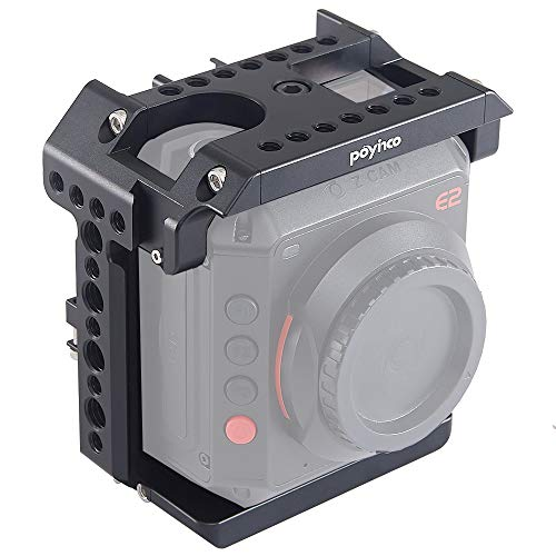 """Poyinco Z Cam E2 Camera Cage with 1/4"""" and 3/8"""" Thread Locating Holes for Handle&Lights"""