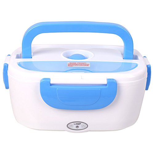 scaldavivande elettrico 220V, lunch box elettrico, con cucchiaio Bento, spina europea(Blu)