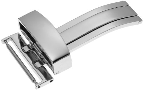 Hadley-Roma Unisex BKL300W-20MM20mm Stainless Steel Deployant Buckle