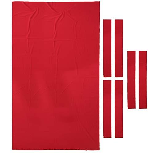 CUTICATE Billardtuch für 9ft Tisch Billardtisch Nylon Abdeckung - Rot
