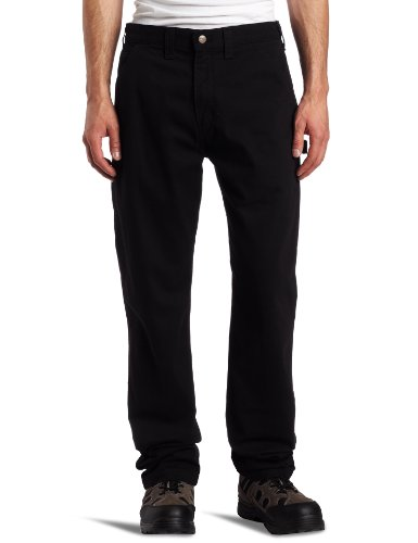 Carhartt Men's Relaxed Fit Washed Twill Dungaree Pant, Black, 34W X 32L