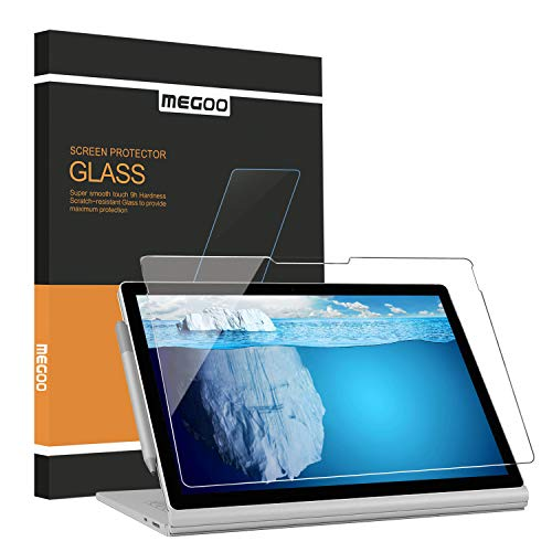 MEGOO Protector de pantalla para Surface Book 3 de 15 pulgadas, vidrio templado/fácil instalación/antiarañazos, también para Microsoft Surface Book 2 de 15 pulgadas