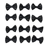 30pc Black Satin Ribbon Mini Bow Tie Bows Ribbon Bows Mini Mixed Embellishment Craft Artificial Applique Wedding- Love shops