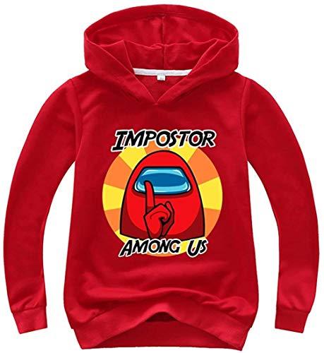 XXHDEE Sudaderas con capucha para niños de color sólido con estampado de Game Among Us para adolescentes (color: 14, tamaño: 170)