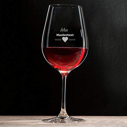 Manutextur Rotweinglas mit Spruch - viele Motive - mit individueller Gravur - personalisiert - Wein-Glas - persönliches Geschenk