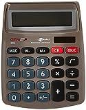 Genie 540 - Calculadora con pantalla inclinada de 10 dígitos (panel solar y batería), color plateado