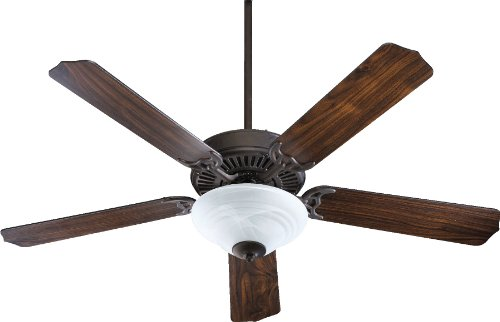 Quorum International 77525-9544 Capri III 52-Inch 2 Light Ceiling Fan, Toasted Sienna Finish with Faux Alabaster Glass Light Kit and Reversible Blades