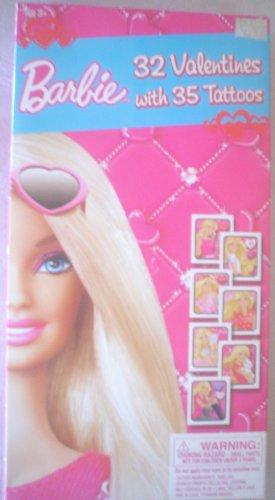 Barbie 32Count Valentines con 35tatuajes, diseños 8Fab