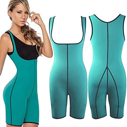 Fyeep Neopren-Body Shaper Sport Sweat Neoprenanzug, sexy Damen Schlankheits Sport Corest Jumpsuit,Taille Shapewear für Sport Gewicht Verlust