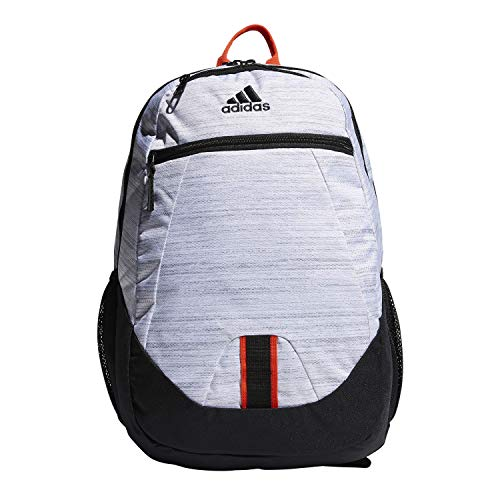 adidas Rucksack Foundation, Unisex-Erwachsene, Rucksack, Foundation Backpack, Zweifarbig/Schwarz/Aktiv Orange, Einheitsgröße