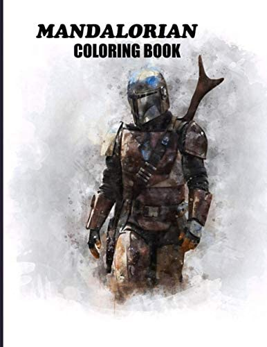 Mandalorian Coloring Book Relief Stress With 80 Coloring Pages Based on Mandalorian Characters product image