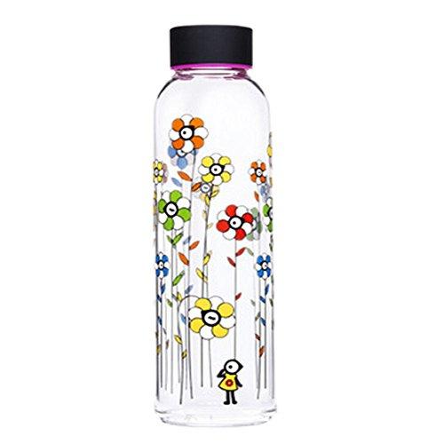 portable randonnée/marche/camping bouteille sport verre, 550ml/fleur