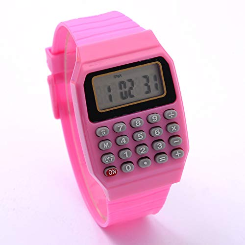 TIDRT Fashion Children's Watch Girl Led Digital Watch Silicone Electronic Calculator Ver como Un Regalo para Los Niños