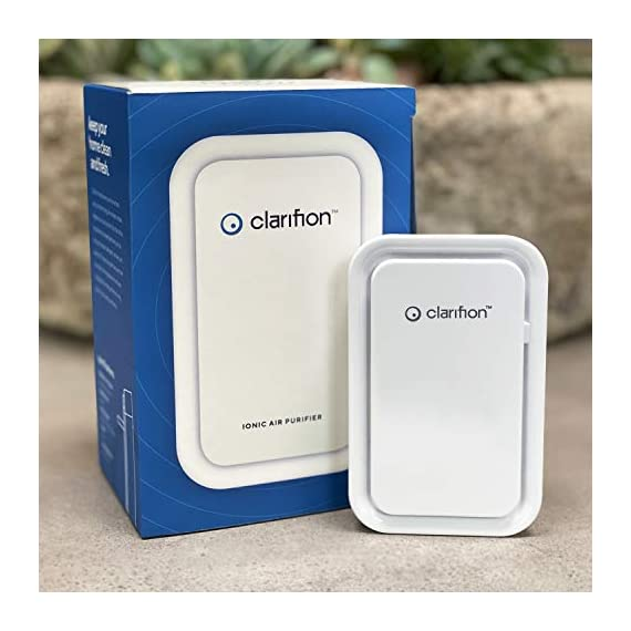 Clarifion - negative ion generator with highest output (1 pack) filterless mobile ionizer & travel air purifier, plug in… 5 for use in: bedrooms, corridors, bathrooms, living rooms, staircases, and other spaces/rooms. Removes bacteria & viruses | reduces allergens | relieves congestion | chemical free | helps reduce asthma | cleaner air eliminates dust, smog, smoke, allergens, pet dander, & bacteria to help keep air fresh & clean | smart design with led indication