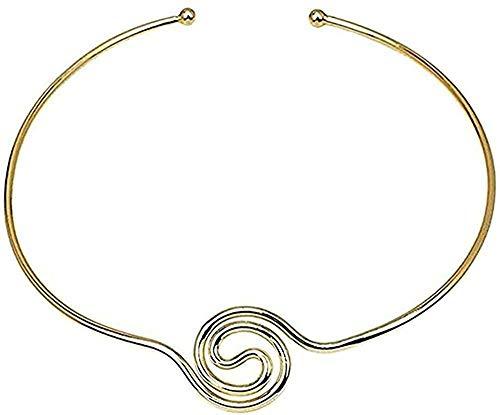 huangshuhua Collar de aleación Collar de Pareja Accesorios de Mujer Collar de Metal Grande geométrico joyería