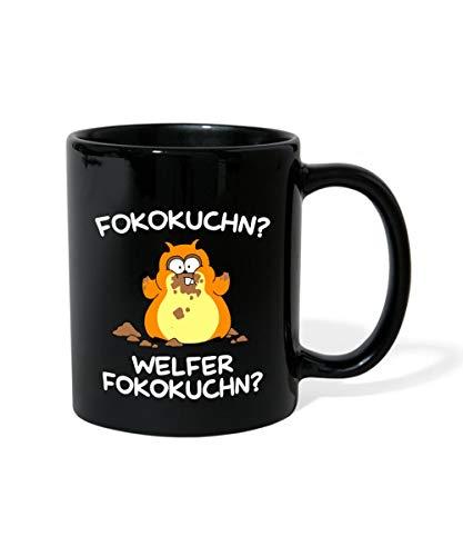 Lustiger Hamster Nascht Schokokuchen Tasse einfarbig, Schwarz