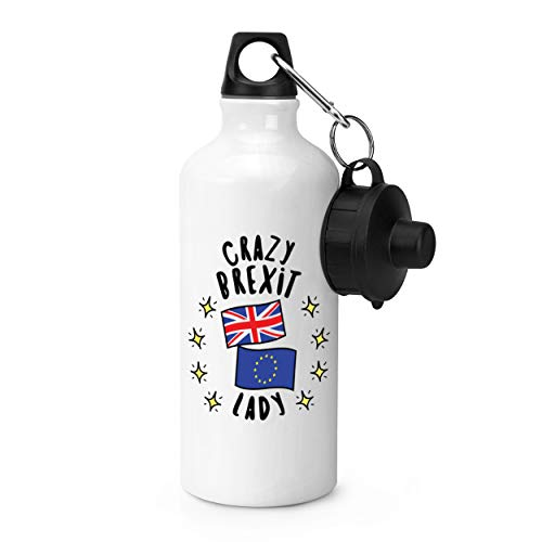 Gift Base Crazy Brexit Gourde de Sport pour Femme Blanc 600 ML