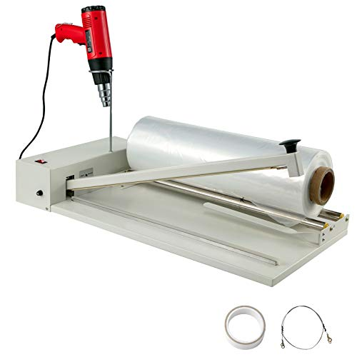 BestEquip 18' Shrink Wrap Sealer, 530W I-Bar Shrink Wrap Machine, Shrink Wrap Sealer with Heat Gun and Shrink Film Suit for PVC POF Film