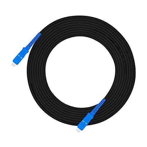 Jeirdus Cable de fibra óptica SC-SC de 30 metros para exteriores blindado...