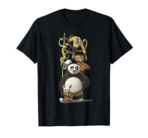 Kung Fu Panda Po And The Furious Five Portrait T-Shirt