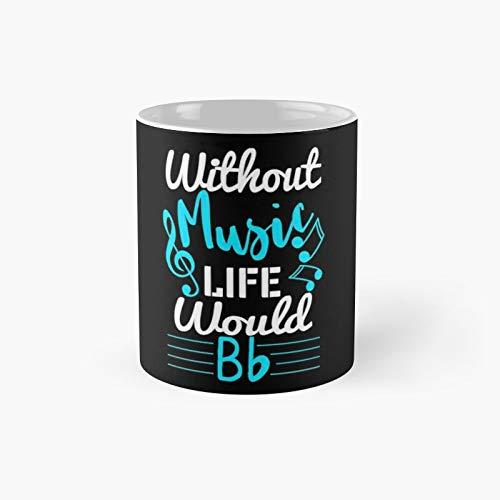 Sin música Life Would Be Flat Musician Cool Ideas de regalo clásico taza mejor regalo divertidas tazas de café 11 oz