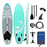 WelandFun Stand Up Paddle Board Gonflable,Planche de Sup en PVC Construction Ultra Robusteavec Accessoires pour Planche de Surf | Longueur 13 Pieds | pour Adultes/Enfants