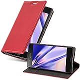 Cadorabo Funda Libro para Sony Xperia Z1 Compact en Rojo Manzana - Cubierta Proteccíon con Cierre Magnético, Tarjetero y Función de Suporte - Etui Case Cover Carcasa